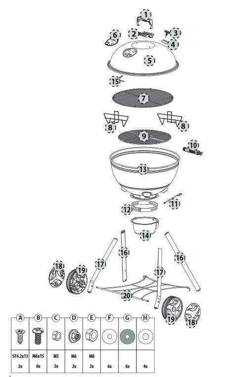 Kepler 400 faszenes gömbgrill