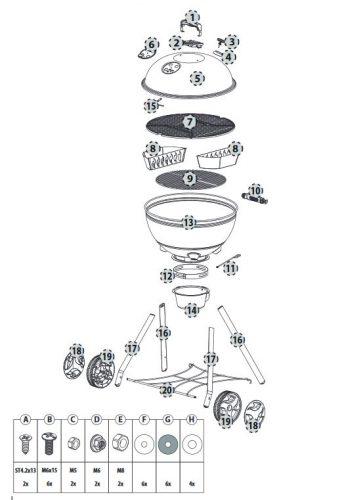 Kepler 600 faszenes gömbgrill - 7