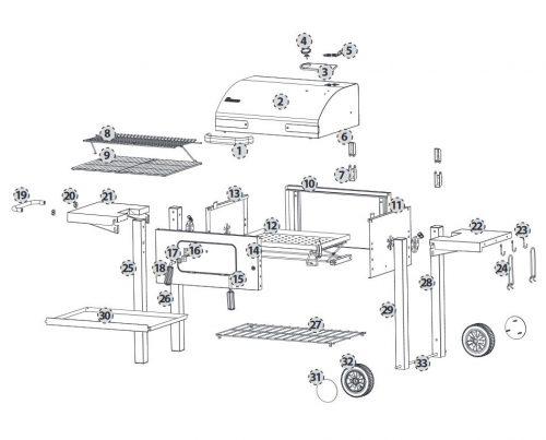 Dorado faszenes grillkocsi - 4