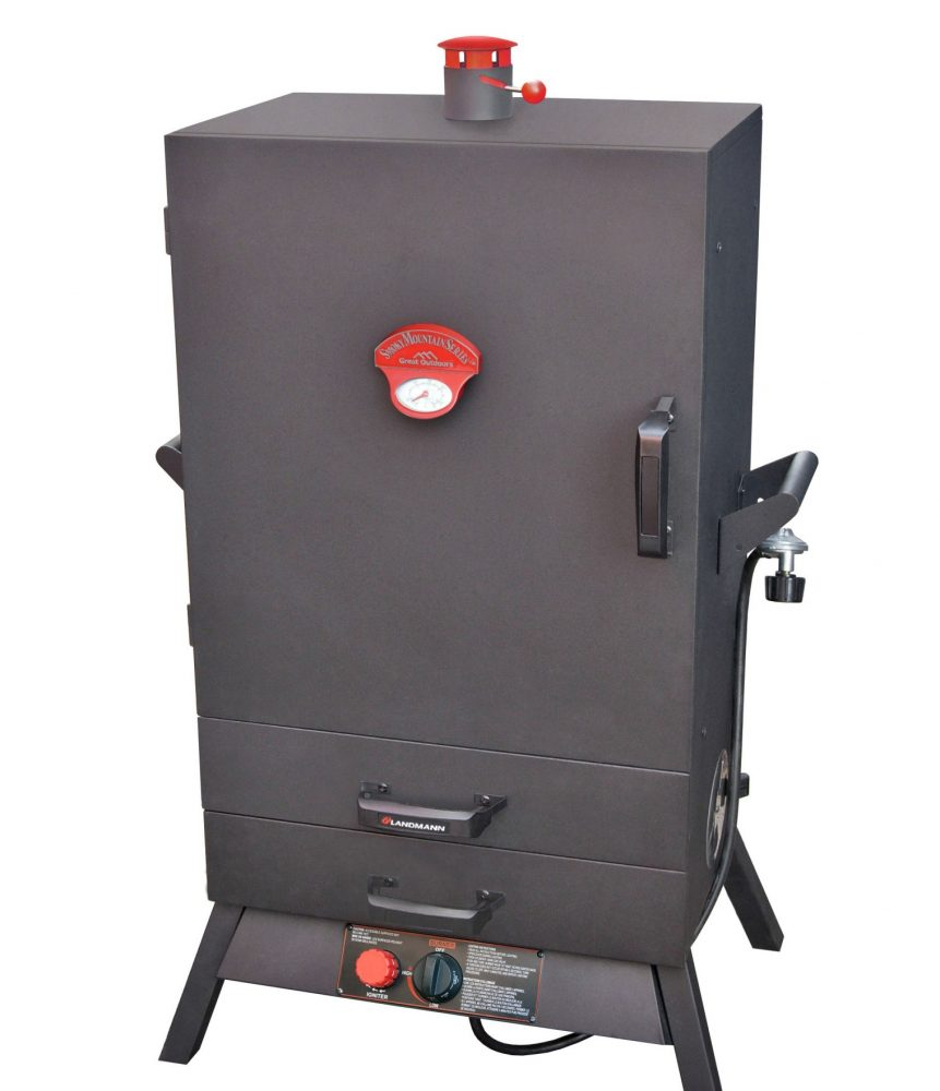 38″ Two Drawer Wide Vertical Gas Smoker
