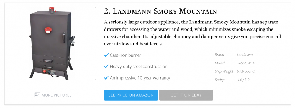 #2 on The 10 Best Propane Smokers